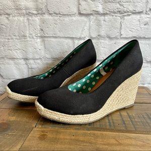 MERONA Black Wedge Espadrilles Wedges Heels